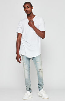Stacked Skinny Active Stretch Destroy Light Tint Jeans