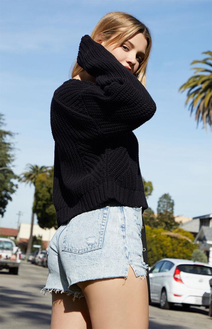 Mix Stitch Boxy Sweater