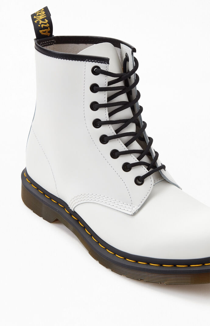 1460 Smooth Leather White Boots