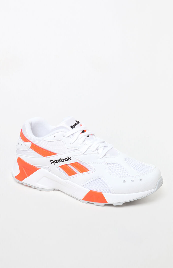 f88d24df69e8 Aztrek White  amp  Orange Shoes