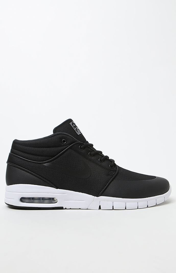 Nike SB Stefan Janoski Max Mid Black and White Shoes at PacSun.com c1aba7055