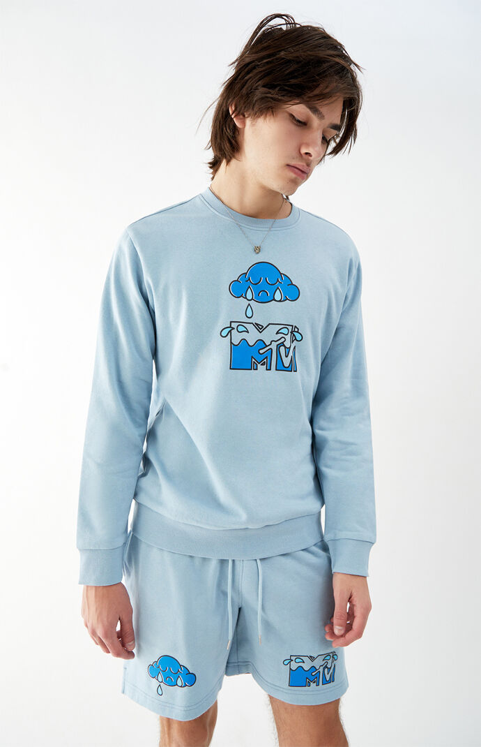 MTV Raindrops Crew Neck Sweatshirt