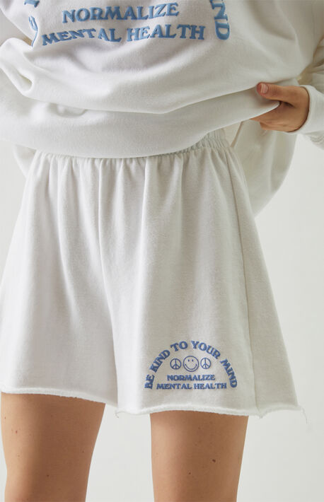 Smiley Kind To Your Mind Sweat Shorts