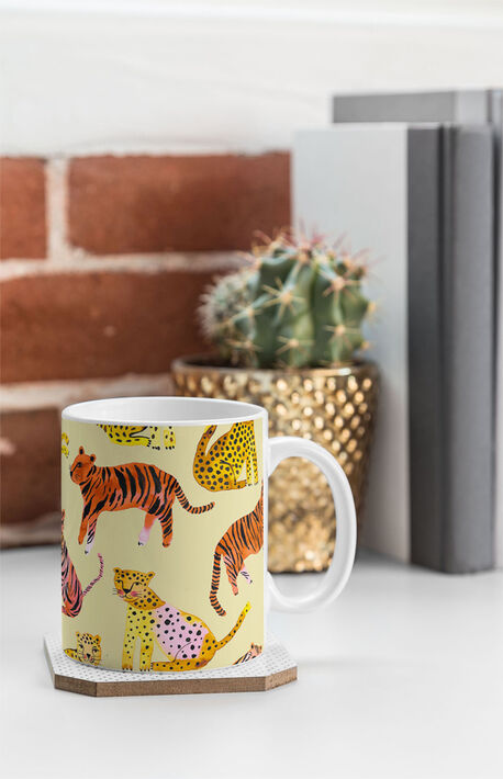 Safari Tigers Leopards Coffee Mug