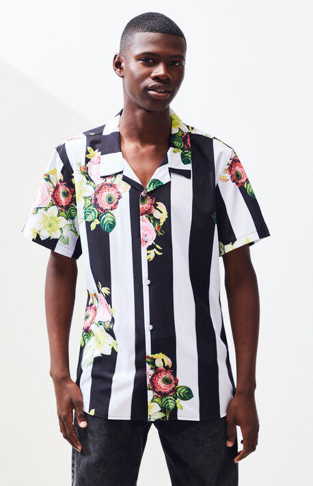 5801158bbdf03 In Bloom Stripe Floral Button Up Shirt