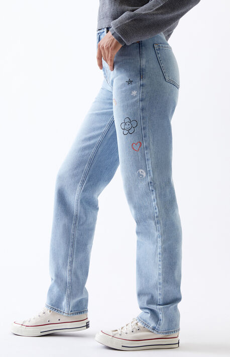 Light Doodles '90s Boyfriend Jeans
