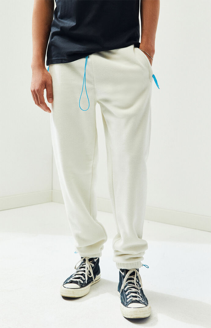 White Fleece Sweatpants