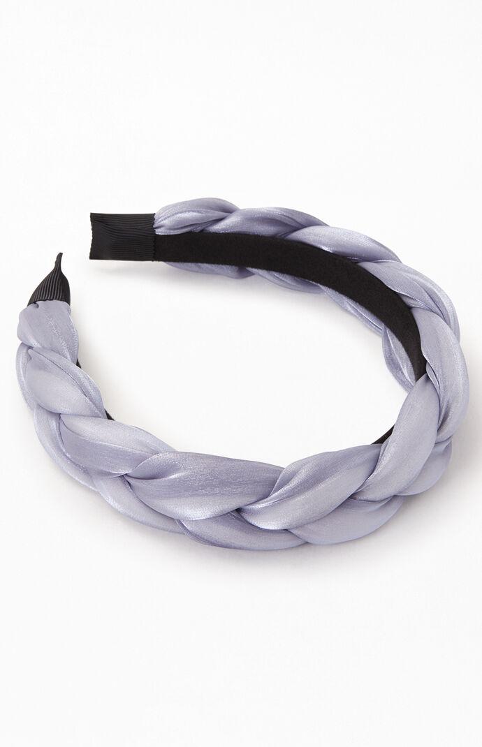 Blue Braided Satin Headband