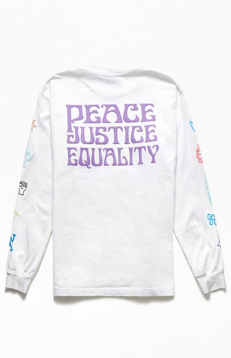 Peace Justice Equality Long Sleeve T-Shirt