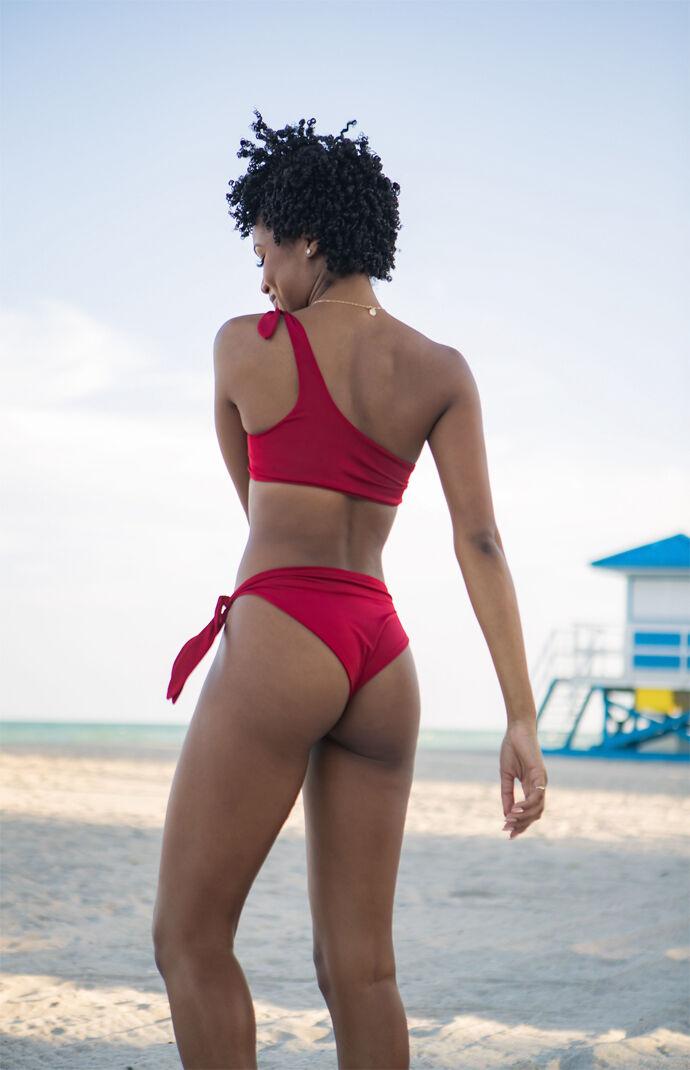 High Waisted Tie Side Bikini Bottom