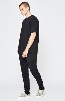 Drop Skinny Moto Jogger Pants