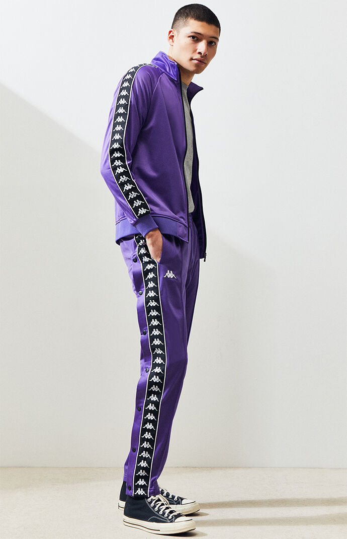 081ebdda643df0 Kappa Banda Astoria Snap Button Slim Track Pants