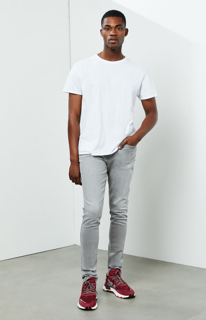 Adam Gray Stacked Skinny Jeans