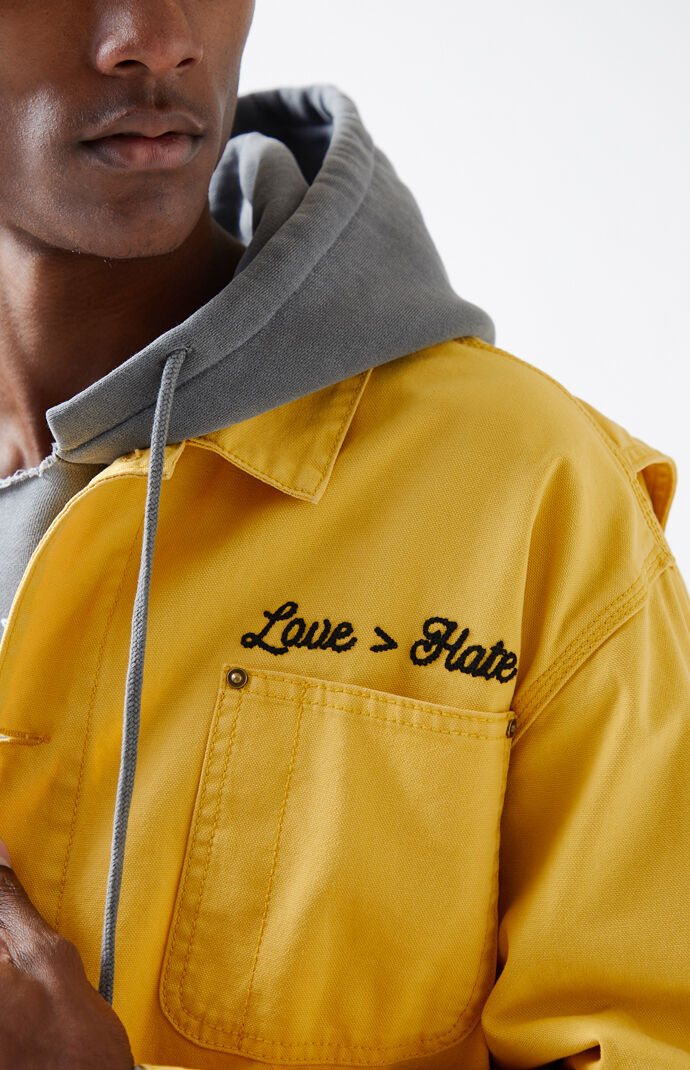 0e072f0633ac9 Not of this Earth Love Hate Canvas Jacket