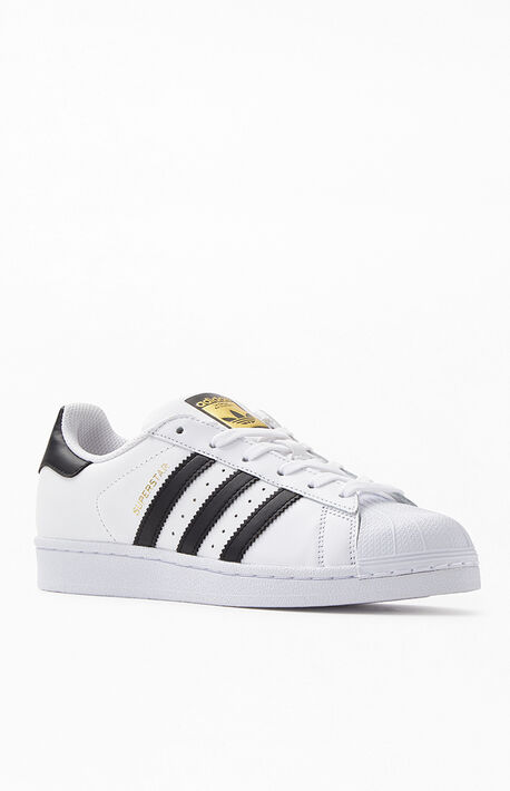 White & Black Superstar Shoes