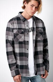 Vincent Plaid Flannel Long Sleeve Button Up Shirt