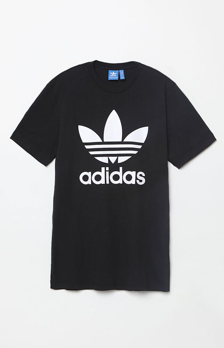 Adidas trefoil black t shirt at for Adidas lotus t shirt