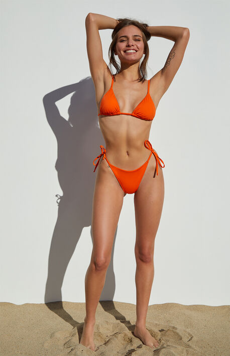 Orange Riviera Triangle Bikini Top