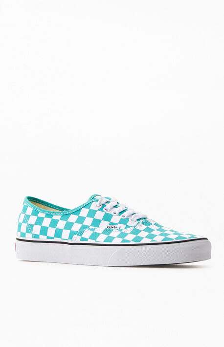 Blue Checkerboard Authentic Sneakers