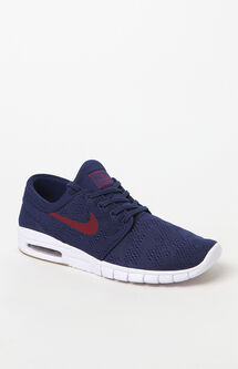 Stefan Janoski Max Blue & Red Shoes