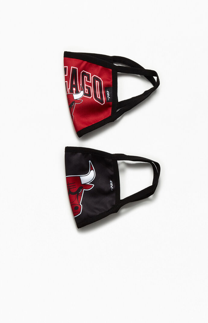 Two Pack Chicago Bulls Face Masks