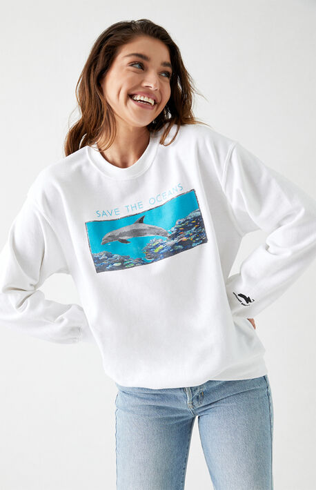 Save The Oceans Crew Neck Sweatshirt