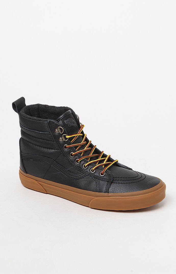 dc119e1189b56b Vans Weatherized Sk8-Hi MTE Black and Gum Shoes at PacSun.com