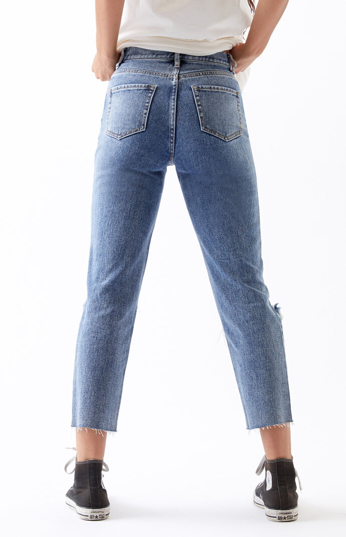 Medium High Waisted Straight Leg Jeans