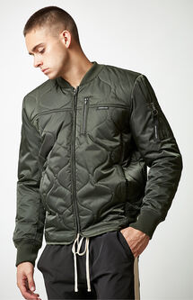Oval Quilted Bomber Jacket