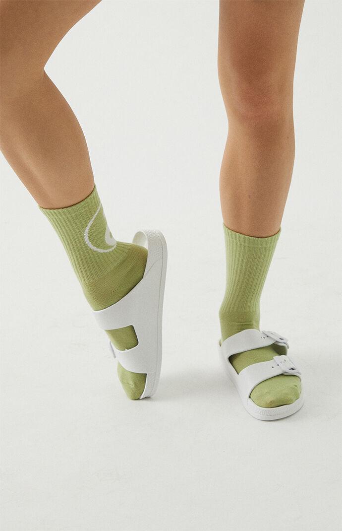 PacSun Womens Women's Rubber Double Buckle Slide Sandals - White size 9