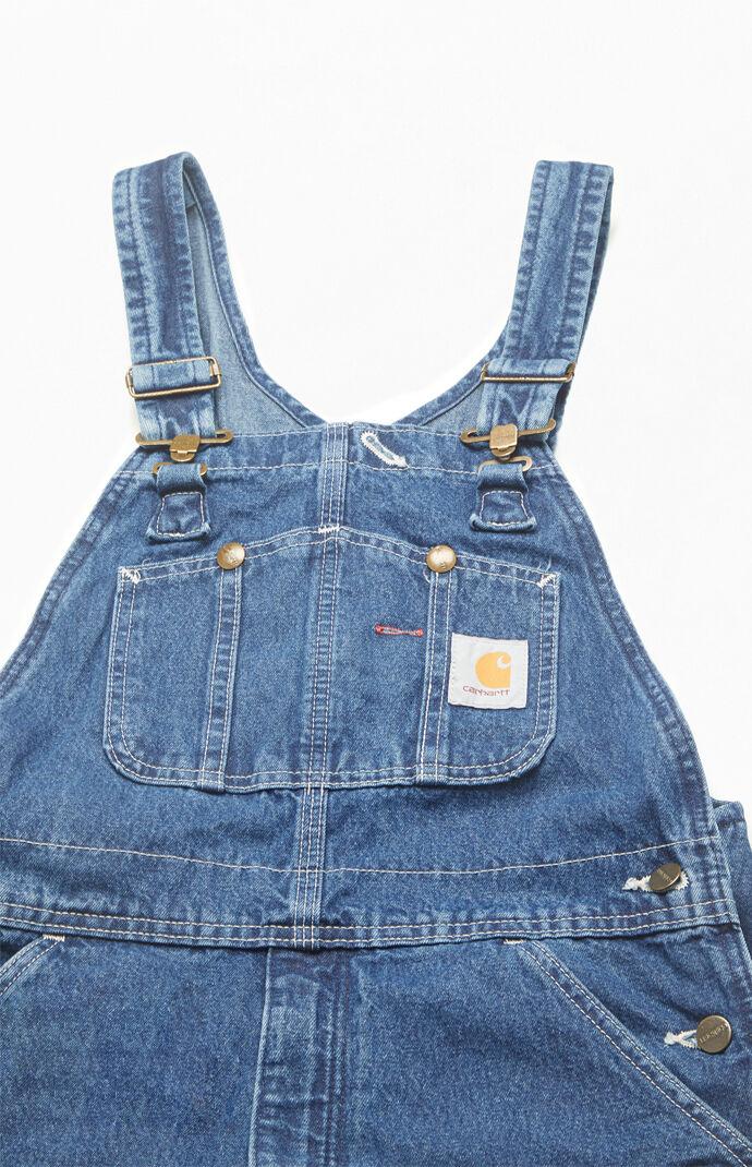 Washed Denim Workwear Overalls