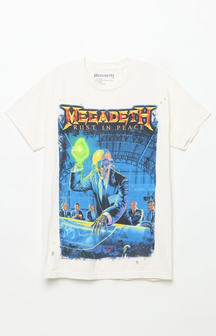 Megadeth Rust In Peace T-Shirt - White 5847652