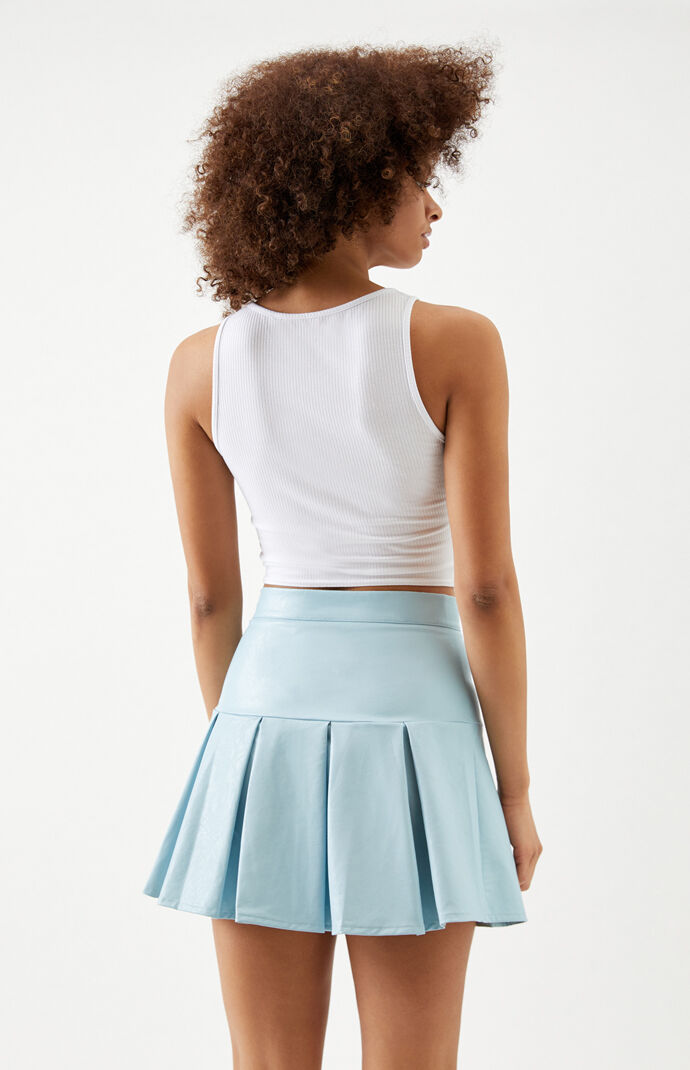 Faux Leather Tennis Skirt