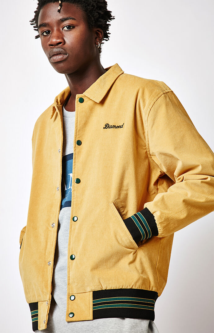 Diamond Supply Co Corduroy Stadium Jacket - Gold 6982276