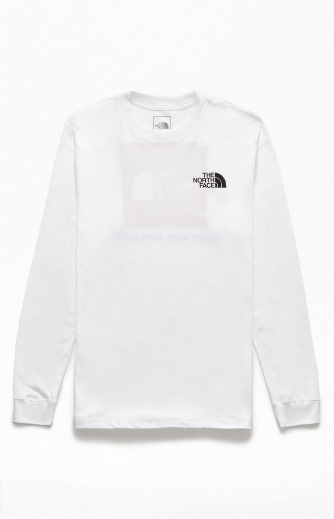 White Red Box Long Sleeve T-Shirt