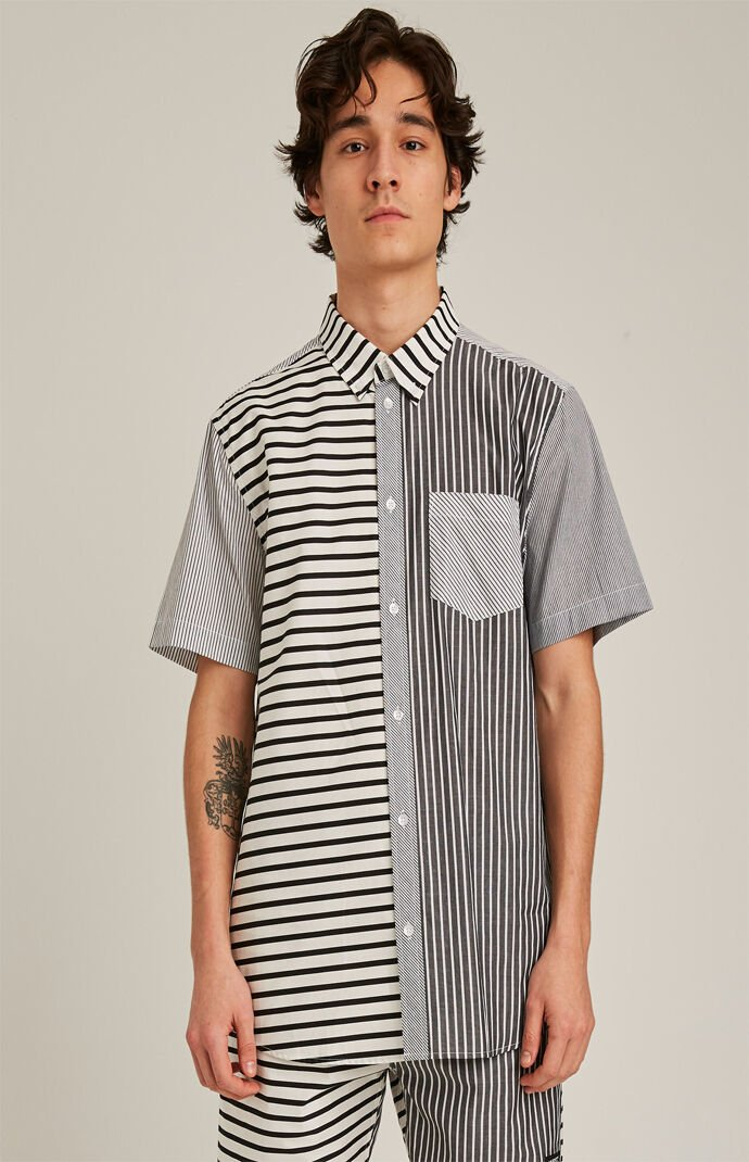 Olavi Striped Short Sleeve Button Up Shirt