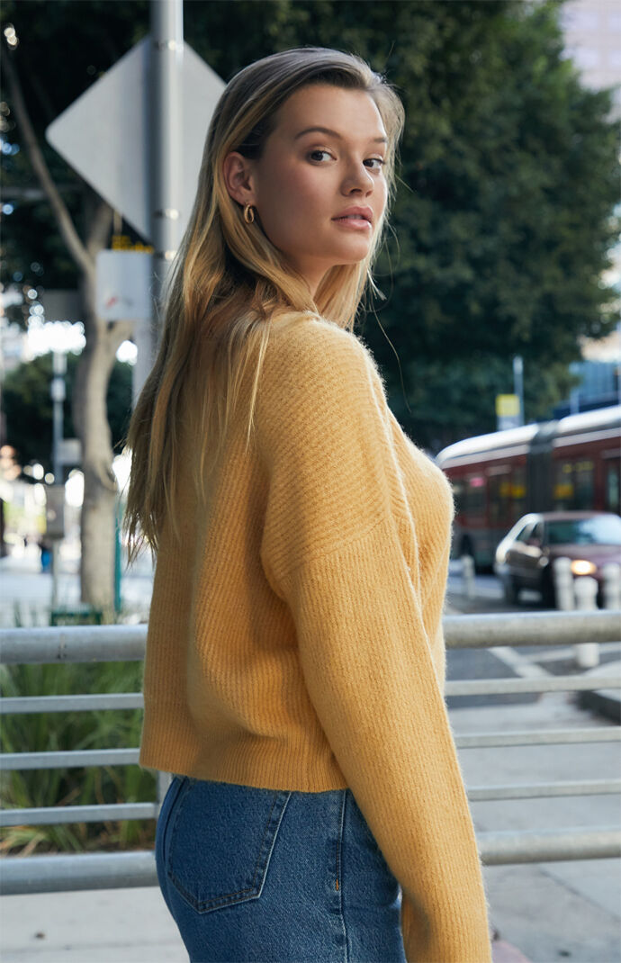 Fuzzy Ribbed Sweater