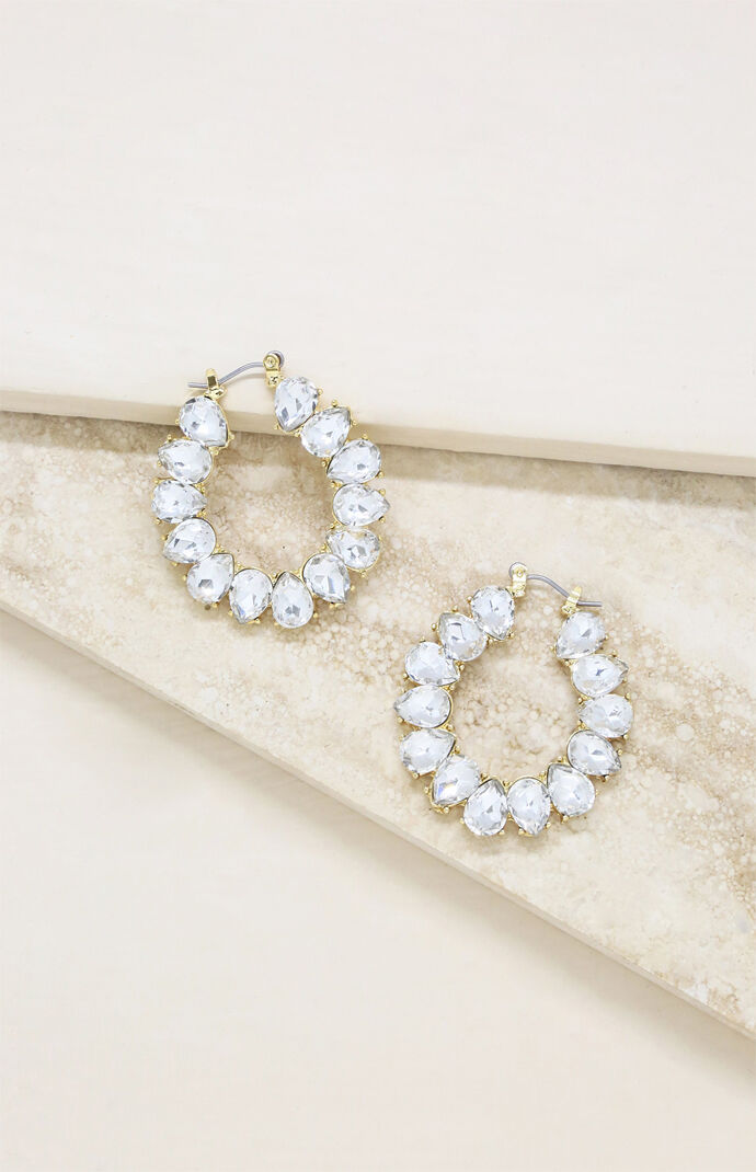 Statement Crystal Hoop Earrings