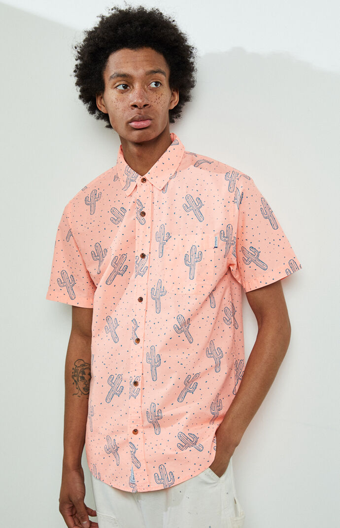 Cactus Short Sleeve Button Up Shirt