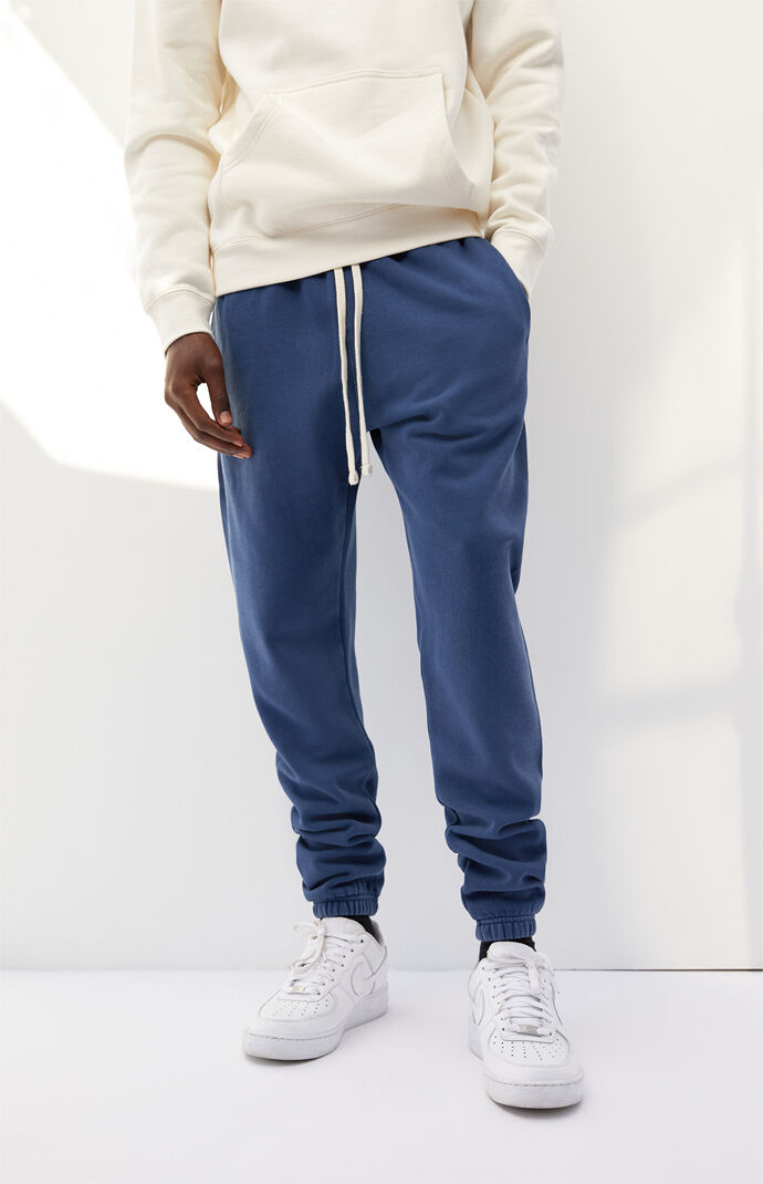 Blue Basic Sweatpants