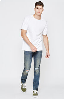 Skinny Active Stretch Destroy Dark Indigo Jeans