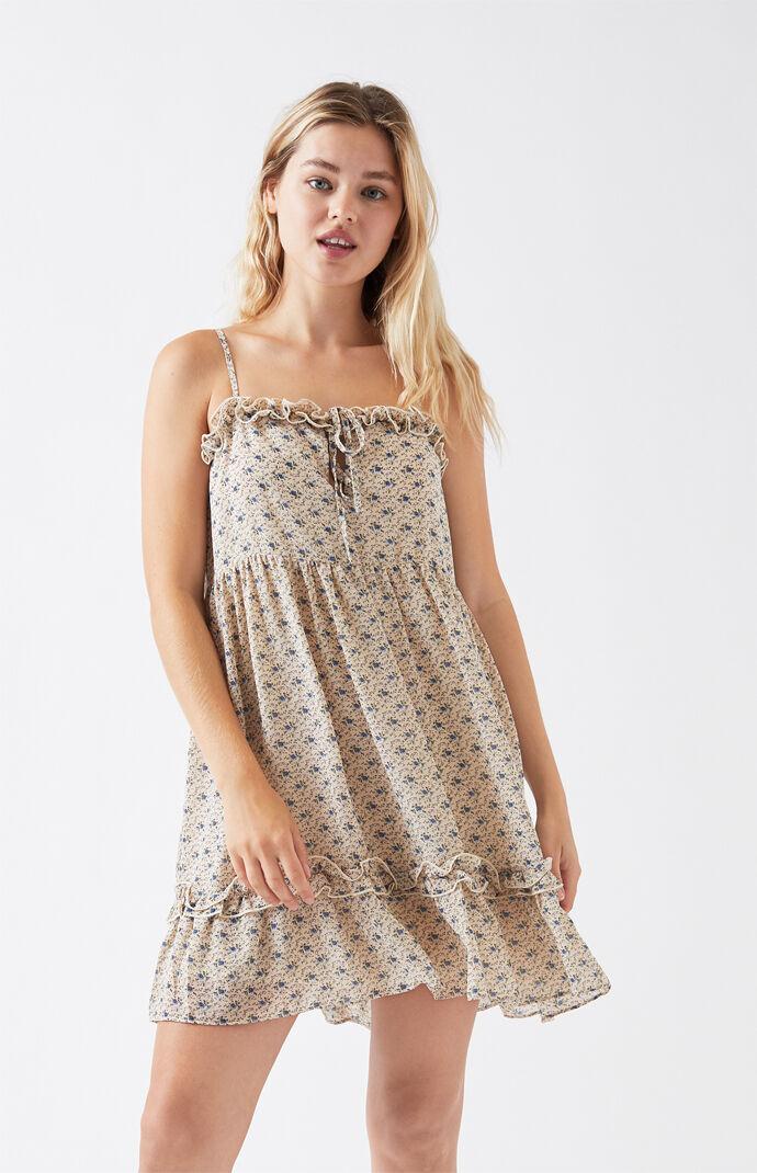 Ruffle Keyhole Babydoll Dress