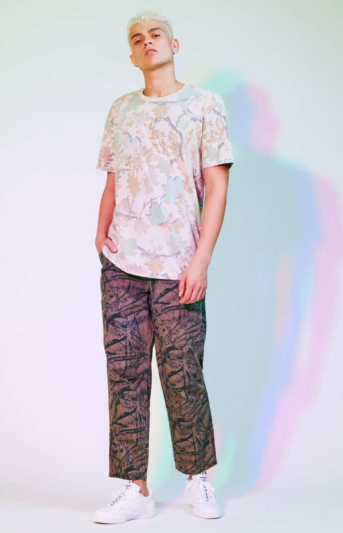 PacSun Mens Editor's Choice Straight Fit Camouflage Cargo Pants 7430770