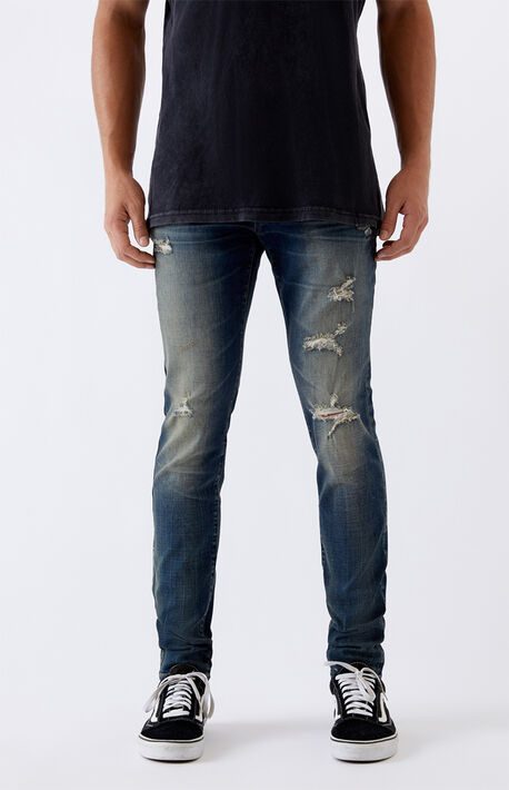 Medium Ripped Stacked Skinny Jeans