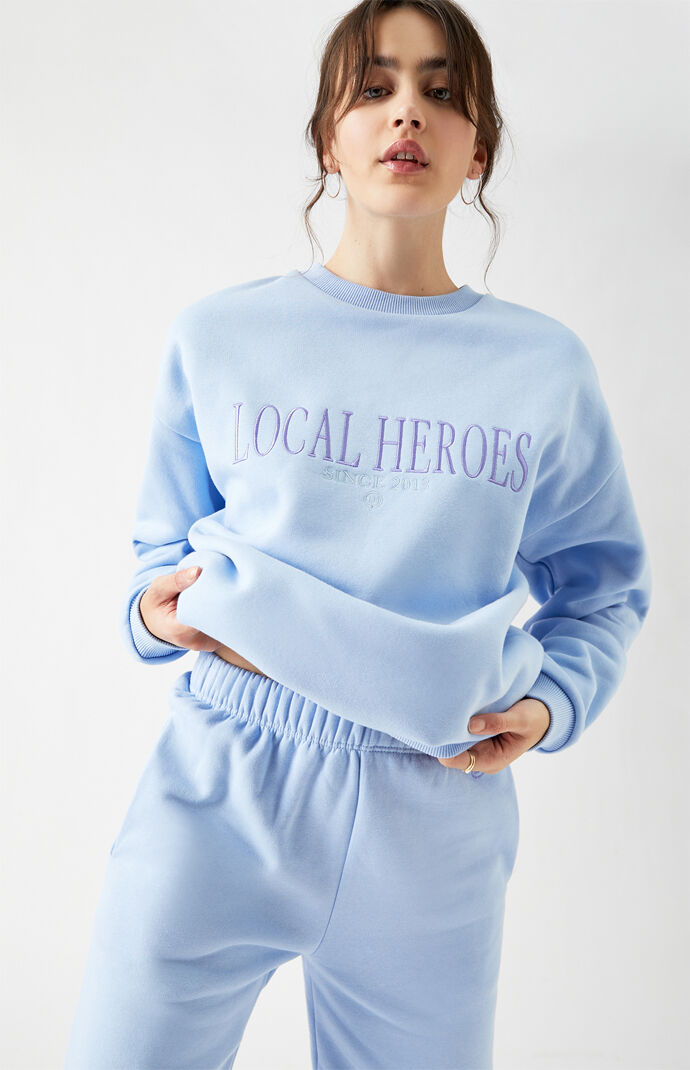 Blue Crew Neck Sweatshirt