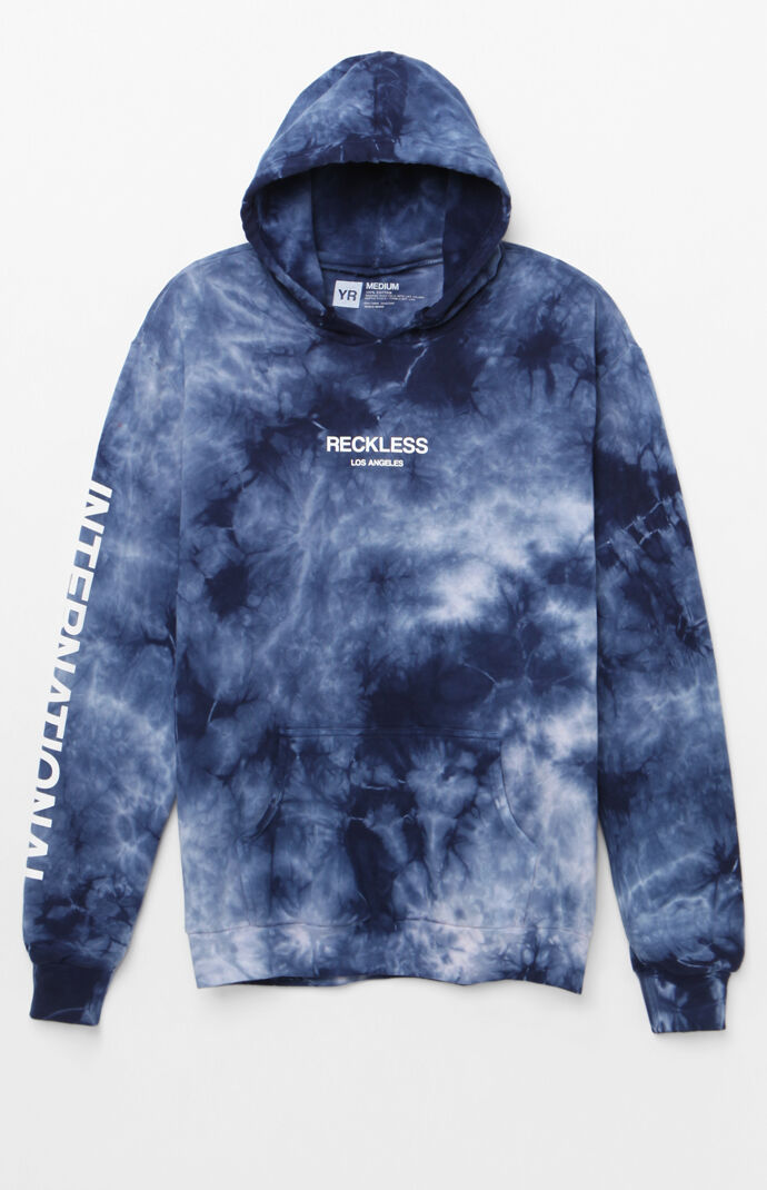 Young & Reckless Mens Classic Int'l Pullover Hoodie - Navy 7544489