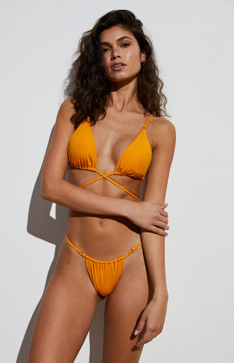 Orange Dawn Skimpy String Bikini Top