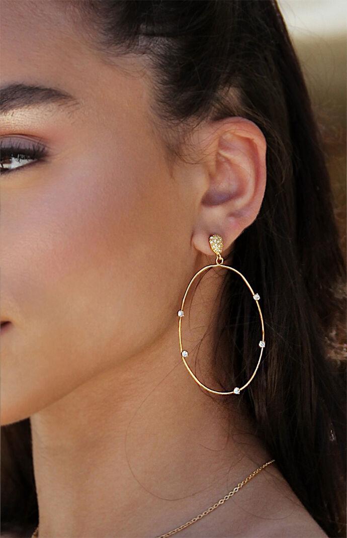 Delicate Gold Crystal Earrings