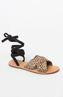 Roxy Lace-Up Sandals