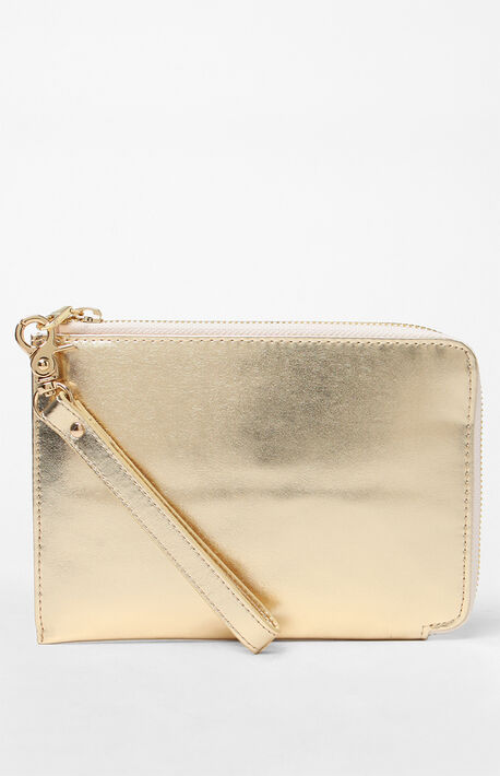Gold Travel Clutch